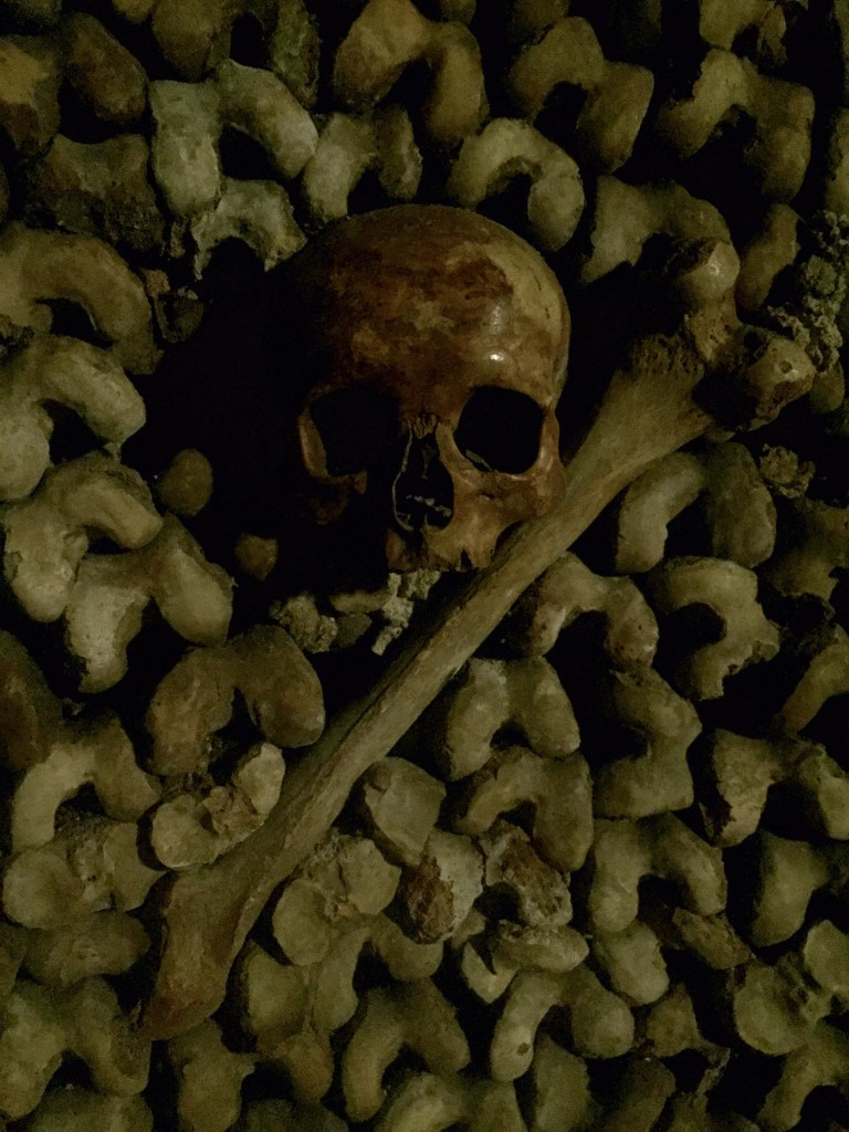 This is one Scott Hocking took in the Paris catacombs. Thinking about flags.