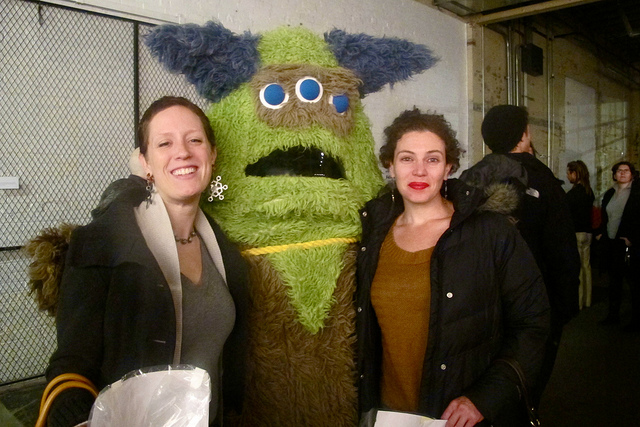 Here's me and my friend Angela at the 2012 MDR, with the Monster. You can see we are full of joy.