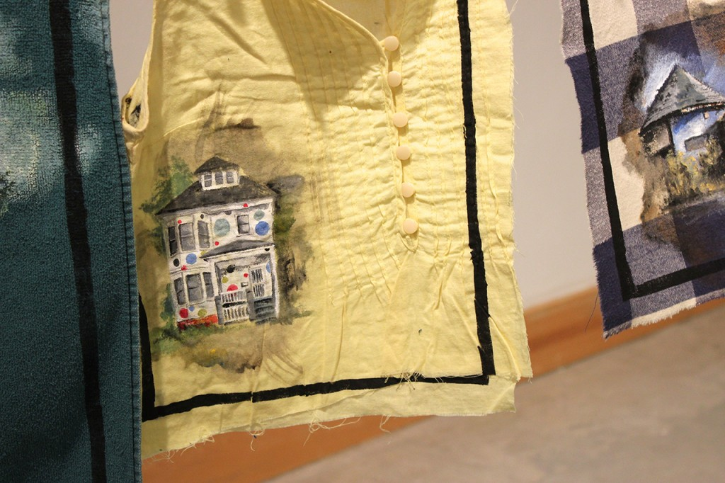 Prayer Flags for Detroit, detail view, by Whitney Sage