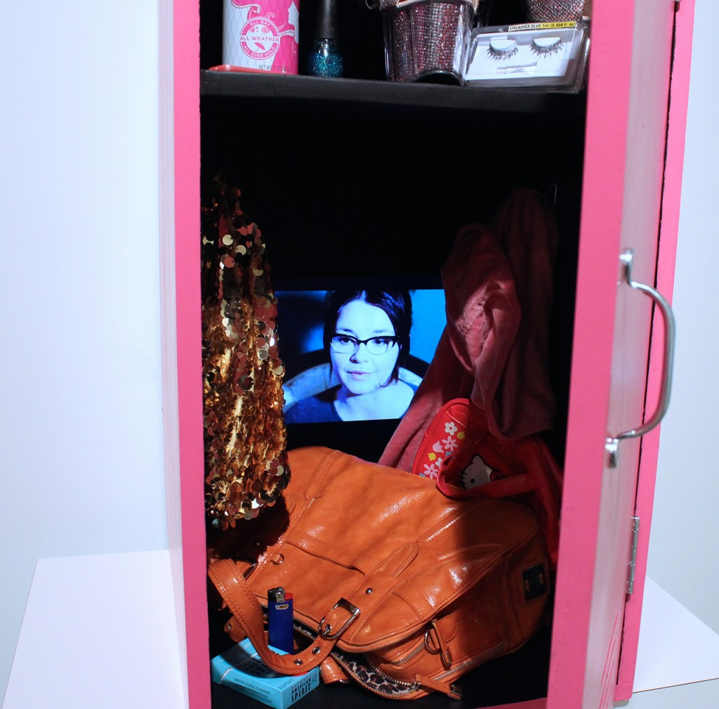Intimate - Locker view, installation by Laurenn McCubbin
